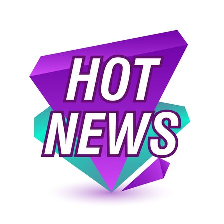 Hot news bright sticker. White background. Can be used for leaflets, brochures, announcements
