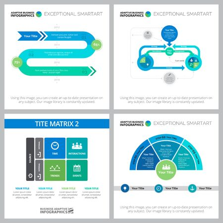 Creative infographic design for development strategy, workflow layout, presentation slide template. Business and startup concepts. TITE matrix, flow, step and process charts