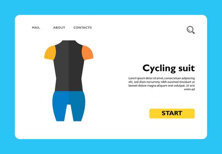 Icon of cyclist suit. Clothing, sport, protection. Bicycle concept. Can be used for topics like sportswear, racing, wetsuit Ilustração