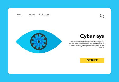 Icon of cyber eye. Tool, innovation, digital. Robot concept. Can be used for topics like biometrics, scanner or simulation