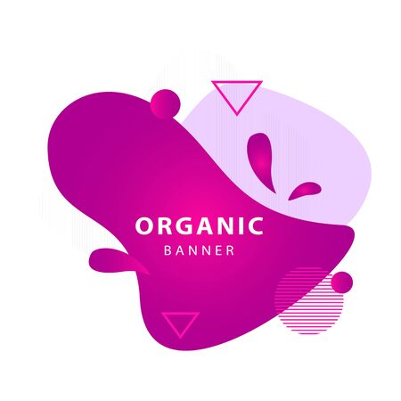 Modern style abstract geometric banner design. Dynamical forms, flowing liquid shapes, wavy line. Template , flyer or presentation. Vector illustration