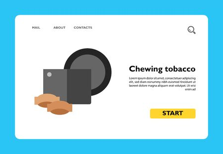 Icon of chewing tobacco. Smokeless tobacco, powder, container. Smoking concept. Can be used for topics like habit, lifestyle, nicotine Illustration