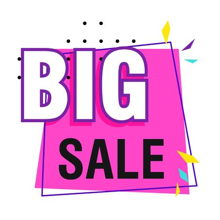 Bright big sale sticker on white background. Sale, special offer, discounts. Sale concept Ilustrace