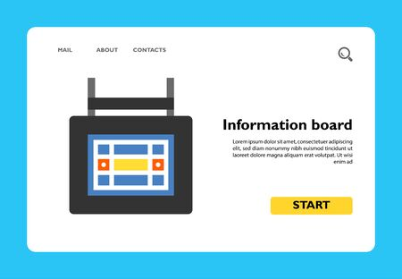 Icon of information board. Panel, competition, score. Bowling concept. Can be used for topics like sport, tournament, game