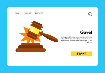 Vector icon of gavel making sold sound. Judgment, auction, mallet. Auction concept. Can be used for topics like court, justice, commerce