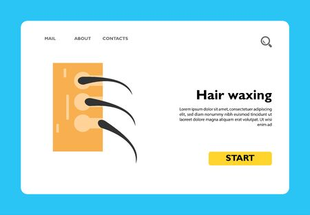 Hair waxing icon. Treatment, alopecia, skincare. Hair removal concept. Hygiene, waxing, dermatology
