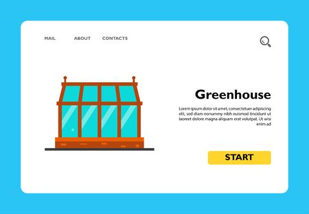 Icon of glass greenhouse. Cultivation, building, hothouse. Seeding concept. Can be used for topics like gardening, planting, farm Stock Illustratie