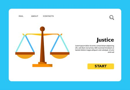 Multicolored vector icon of justice weighing scales Vektorgrafik