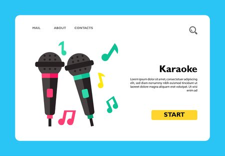 Icon of karaoke microphones. Singing, performing, recording. Party concept. Can be used for topics like entertainment, show, nightlife
