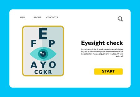 Multicolored vector icon of stylized sign of eyesight check Ilustracja