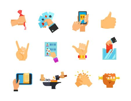 Leisure time icon set. Decorating Cake Playing Cards Parcel Tracking Thumbs-up Rock Vote Paper Surfers Shaka Ballot Box E-book Forging Metal Giving Five Oscar