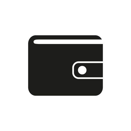 Simple icon of purse. Salary, wages, cash. Money concept. Can be used for topics like shopping, commerce, finance