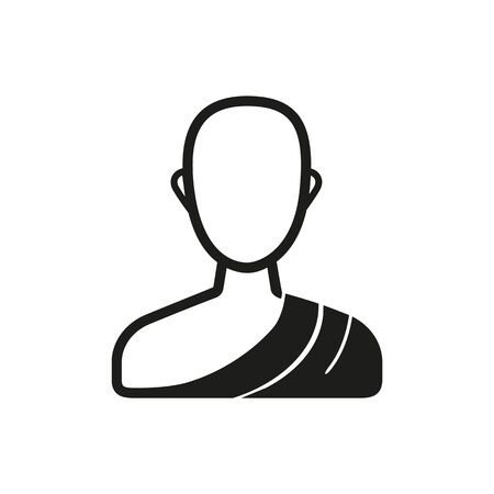 Simple icon of Buddhist. Buddhism, India, Hinduism. Faith concept. Can be used for topics like Asian religion, Asian culture, travel