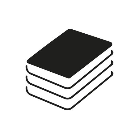 Simple icon of book pile. Library, textbooks, archive. Book concept. Can be used for application icons, information boards and web pictograms Zdjęcie Seryjne