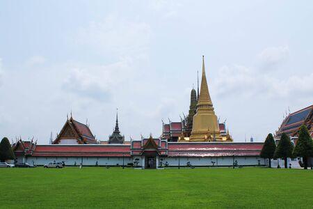 venerate: Wat phra kaew landscape of Thailand Stock Photo