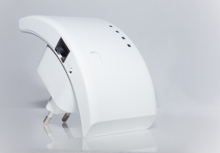 wep: repeater for communication with the Internet on  white background