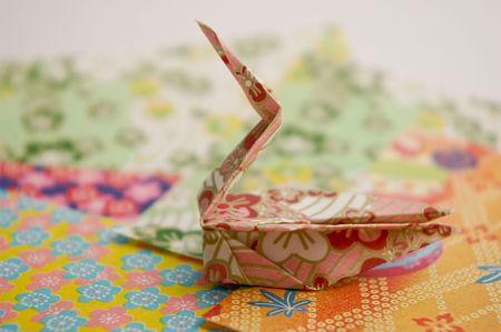 origami bird swan photo