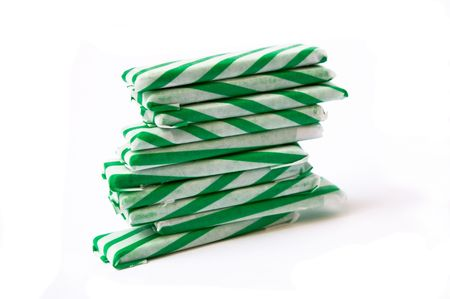 chewed: chewing gum sticks