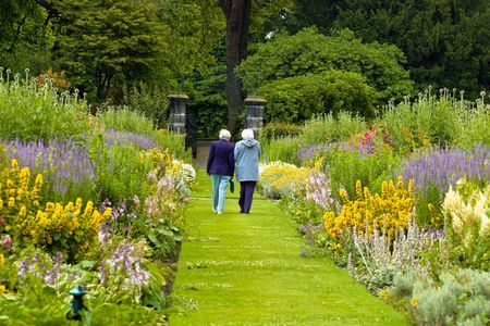 old ladies walking photo