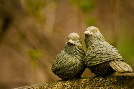 Loving birds, garden sculpture Stock Photo - 6931126