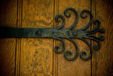 castle door detail, close up. Door in Stirling castle, Scotland photo