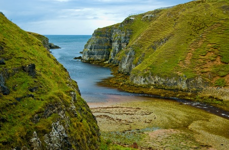 cliffs at north of Scotland at Highlands at autumn photo