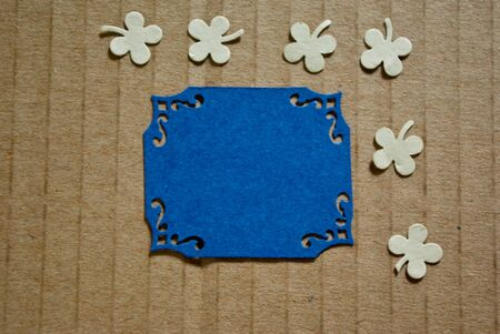beige backgrounds: paper collage for scrapbooking on cardboard