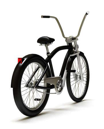 Black cruiser bicycle rear Stock Photo