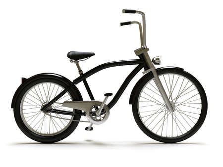 Black cruiser bicycle right Stock Photo - 6319247