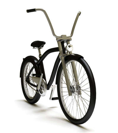 cruiser bike: Black cruiser bicycle front