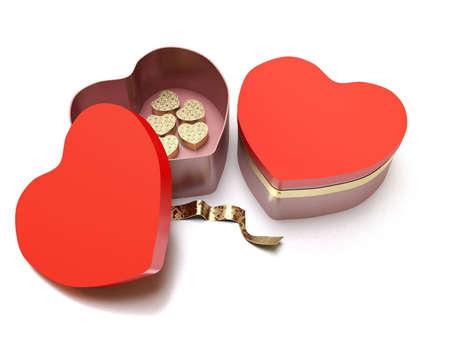 heart shaped red box valentine Stock Photo - 6355699