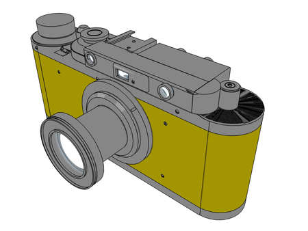 hi resolution: Vintage photo camera Stock Photo