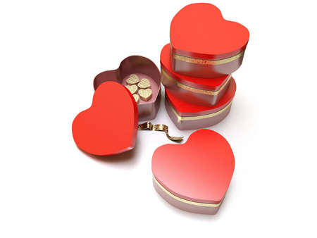 heart shaped red box valentine Stock Photo - 6355701