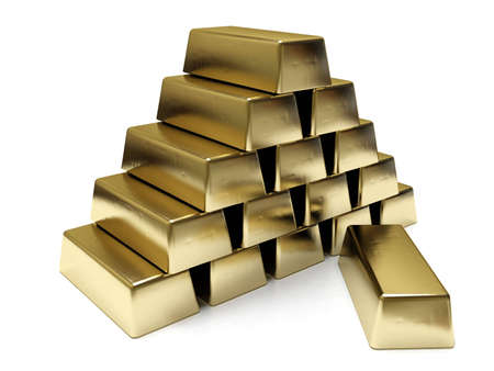 aurum: Golden bars  Stock Photo