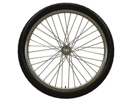 aluminum wheels: Rueda de bicicleta aislado en blanco Foto de archivo