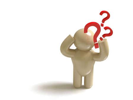 FAQ man Stock Photo