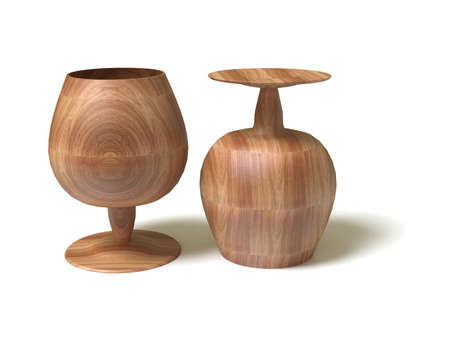 Two wooden goblet photo