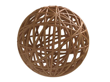 Wooden wired sphere