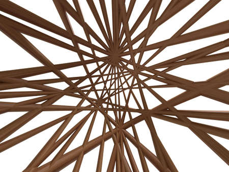 Abstract wire wood