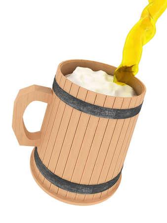 Cup of beer, splash foam