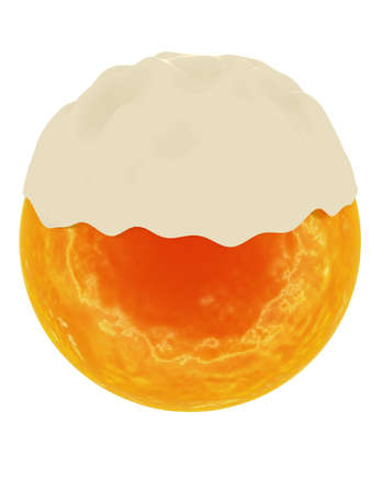 Beer sphere,  3D visualization Stock Photo