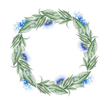 꽃과 수채화 꽃다발입니다. 팬지. 히아신스. 삽화. 손으로 그린.