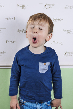 disobey: Little boy making a silly face Stock Photo
