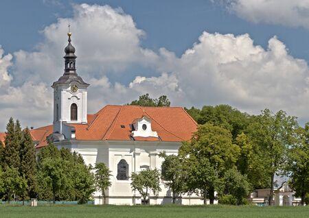 baroque church in oparany, czech republic