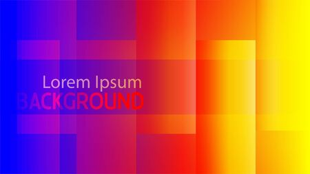 horizontal abstract glowing  gradient red yellow blue rectangle vector background. perfect use for social media cover, web banner, and other digital necessity