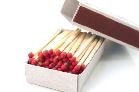 Matches snd box on whhite background