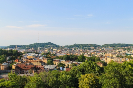 Lviv city panorama