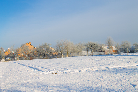 village in winter photo