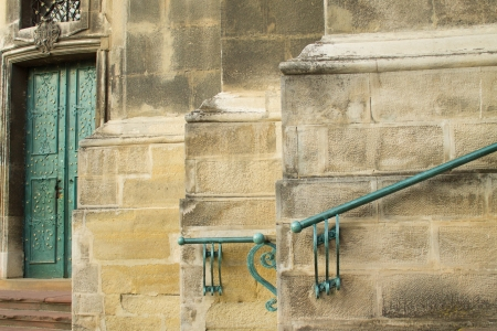 architectural feature: old cathedral wall