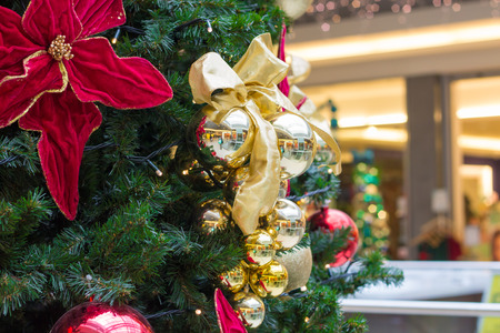christmas tree in mall Stock Photo